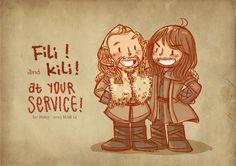 Fili and Kili by haleyhss http://www.deviantart.com/art/fili-and-kili-346570525