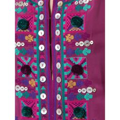 Figue Nala kaftan (74.390 RUB) ❤ liked on Polyvore featuring tops, tunics, purple kaftan, kaftan tops, figue, silk top and purple top