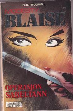 """""""Modesty Blaise - Operasjon sabeltann - Sabre-Tooth"""" av Peter O'Donnell"""