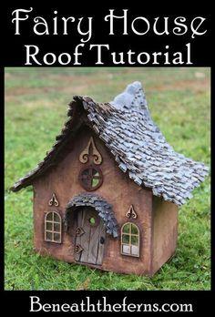 Tutorial for fairy house roof from beneaththeferns #miniaturegardens