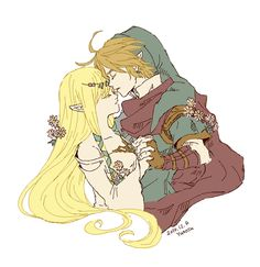 Ok so I read a REALLY long one-shot that mixed up three of the most famous Zelda games and on of the parts said that in one certain lake Goddess Hylia and the first of all Links loved each other (if you know what I mean). This is what I pictured