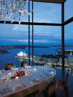 Gaze out upon exquisite views of Sydney's world famous harbour from the floor-to-ceiling windows: this is Romance with a View! - Altitude Restaurant at Shangri-La Hotel, Sydney