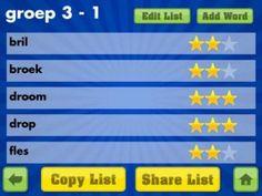 Handige app voor spelling om dicteewoorden te oefenen.