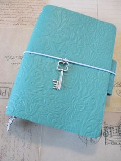 "Passport size ""Tiffany"" Traveler's Notebook"