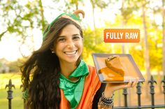 FullyRawKristina creates a magical Pumpkin Pie! This low-fat raw vegan recipe is the ultimate holiday pie to share with family and friends! http://youtu.be/m...