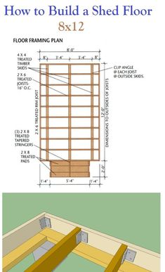 Building A Shed 487796203391873907 - How to build a shed floor before you start building that shed. We all know the foundation is key to any building project. Source by agodaert Shed Floor Plans, Diy Shed Plans, Storage Shed Plans, Small Shed Plans, Cabin Plans, Storage Ideas, Building A Storage Shed, Shed Building Plans, Shed Ramp