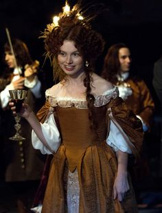 the-garden-of-delights: Sarah Winter as Louise de La Vallière in Versailles (TV Series, 2015). [x] Your cup runneth over, milady.