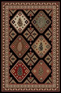 Delectably Yours Decor Pinecone Panel Rug 2x3 2x8 4x6 5x8 or 8x10  #DelectablyYours Rustic Cabin Southwest Lodge Rugs