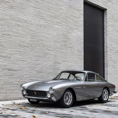 Stunning vintage Ferrari in silver. #Style #Beauty #Art #Performance #Cars #CarShowSafari
