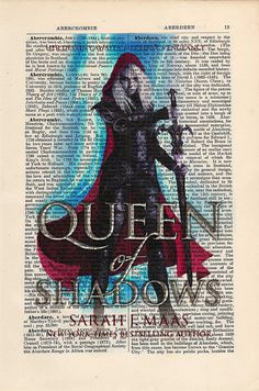 Throne of Glass Queen of Shadows Print on an by CartabanCards