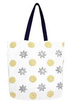 38d9b5c6ffd5 Sun and Stars Print Cotton Canvas Tote Bag Handbags Shoulder Bags