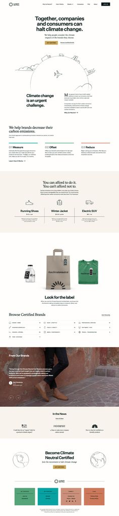 Climate Neutral landing page design inspiration - Lapa Ninja Ecommerce Web Design, Audio Design, Creative Colour, Landing Page Design, Web Design Inspiration, Climate Change, Neutral, Ninja, Shop