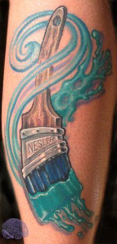 paint brush tattoos | Phil Robertson - Paint brush tattoo