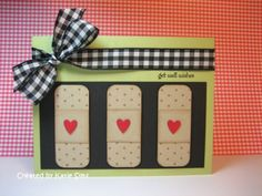 bandaids. cute idea for get well card by candykaner