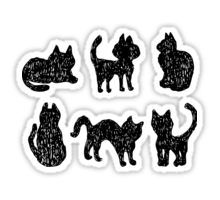Black cats Sticker