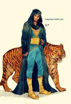 Jasmine as a man.