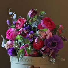We are thrilled to start 2014 with this fabulous bouquet to kick off our new years collection. This lovely bouquet offers pink scented garden roses hand tied with hyacinths, anemones and tulips mixed with garden herbs and foliage. Add The Real Flower Company chocolate box or some delicious sparkling wine for added decadence. An ideal choice to celebrate a birthday, new baby or to say thank you.