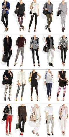 We love these 20 ideas for wearing leggings! Look Chic yet comfortable! by @Fashion Blog México Foto de 20 Ideas de como usar leggings