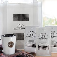 Sunrise Rescue Gift Pack – Grounds & Hounds Coffee Co. Coffee Is Life, Coffee Love, Coffee Shop, Tip Jars, Coffee Uses, Caffeine Addiction, Vodka Drinks, Packaging, Dark Roast