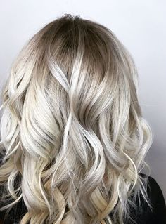 Platinum blond with shadow root