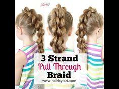3 Strand Pull Through Braid - YouTube