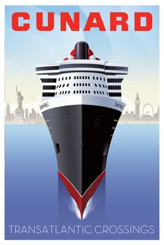 Cunard Travel Posters - Graphis