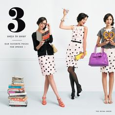 Kate Spade continues her spectacles and polka dot-clad assault on my ability to avoid thinking about shopping while mentally shouting SO CHIC AND CUTE (CHIUTE). Get ugly instead of chiute, Kate Spade, so I can stop drooling. Pretzel ftw. :p