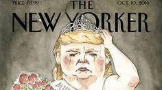 The New Yorker поместил на обложку Дональда Трампа в образе королевы красоты - Коммерсантъ