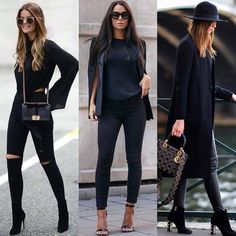 Love Total Black Fashion Casual