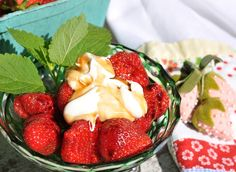 Arkansas Strawberries with Creme Fraiche and Beekman 1802 Balsamic ...