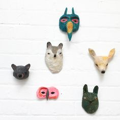Abigail Brown Papier Mache heads! Lovely!