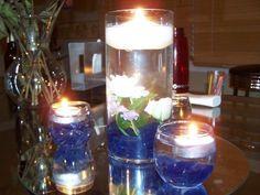 Art After wedding sale! Cobalt Blue Glass Pebbles :  wedding glass pebbles blue rocks centerpiece vase navy ceremony reception 100 5752 steffy-s-wedding