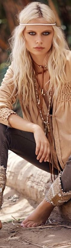 Boho bohemian boho style hippy hippie chic bohème vibe gypsy fashion indie folk dress