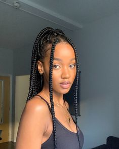 Cute Box Braids Hairstyles, Braided Hairstyles For Black Women, African Braids Hairstyles, Girl Hairstyles, Office Hairstyles, Easy Hairstyles, Anime Hairstyles, Stylish Hairstyles, Hairstyles Videos