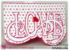 Valentine's Day Love card #svgattic #svg