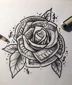 Rose Drawing Discover you determine your fair price! Poste under this post your you determine your fair price! Poste under this post Gangster Tattoos, Chicano Tattoos, Dope Tattoos, Badass Tattoos, Body Art Tattoos, New Tattoos, Hand Tattoos, Tattoos For Guys, Forearm Sleeve Tattoos