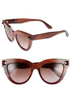 47b5ec6da4e Valentino  Rockstud  51mm Cat Eye Sunglasses