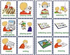 Printable daily routine flash cards for toddlers - Flashcards For Learning Puzzle Drawing, Guitar Drawing, Daily Activities, Toddler Activities, Verb Games, Intransitive Verb, Body Preschool, Action Verbs, Student Guide