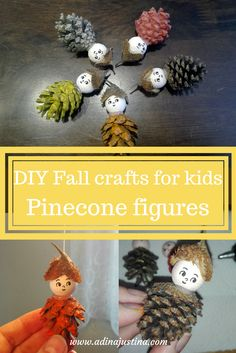 Make with your kids these easy fall figures as a cute decoration of your home. Fall Crafts For Kids, Craft Projects For Kids, Toddler Crafts, Crafts To Do, Diy For Kids, Kids Crafts, Barn Wood Crafts, Craft Stores, Really Cool Stuff