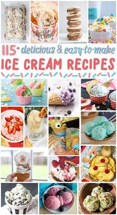 Delicious Homemade Ice Cream Recipes I have collected over 115 Delicious and Easy to Make Ice Cream Recipes for National Ice Cream Day this month. Every single one is worth trying out this summer (or every season for that matter)! Snow Ice Cream, Diy Ice Cream, Ice Cream Day, Strawberry Shortcake Ice Cream, Raspberry Ice Cream, Cake Batter Ice Cream, Cheesecake Ice Cream, Low Carb Ice Cream, Vegan Ice Cream