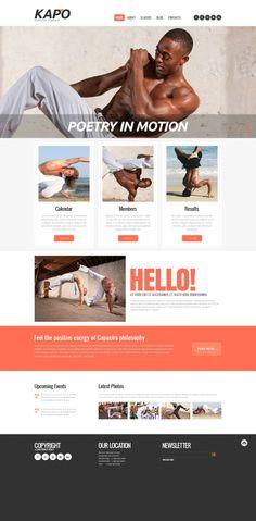 'Kapo Asia' martial arts #webdesign website template http://zign.nl/48015