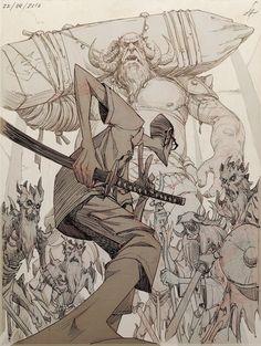 Art by comics & manga inspirations in 2019 Cool Drawings, Drawing Sketches, Comic Books Art, Comic Art, Manga Art, Anime Art, Perspective Art, Poses References, Samurai Art