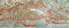 16. Jahrhundert v.Chr - Seekriegszug / spätminoische Wandmalerei