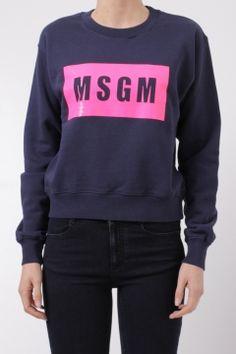 MSGM black and fuchsia sweatshirt felpa nera e fucsia MSGM fall winter 2015 2016 collection shop online