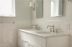 Image result for bathroom with tile and white vanity