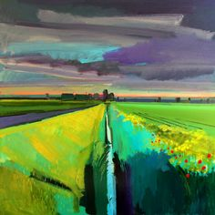 Poppylot Dawn, Norfolk Fens, June 2016 Acrylic on board Fred Ingrams http://www.fredingrams.com/