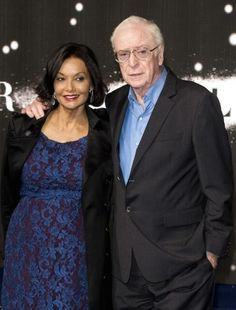 Michael Caine with his wife Shakira Caine during the Premiere of 'Interstellar' in October 2014....