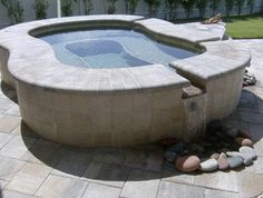 Spa - traditional - pool - charlotte - by Fountain Pools & Water Features