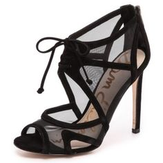 Sam Edelman Pompei Sandal in Black Size 7.5 NWT Brand new and never used, size 7.5, black mesh material Sam Edelman Shoes Heels