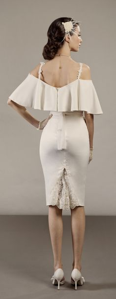 Veronica short two piece wedding dress inspired by vintage Hollywood https://www.etsy.com/il-en/listing/157164861/veronica-short-two-piece-wedding-dress?ref=shop_home_active